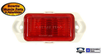 69 CAMARO CHEVELLE REAR PARKING SIDE MARKER LIGHT LENS RED