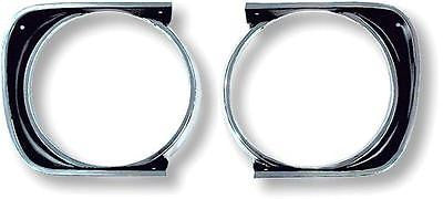 1967 67 CAMARO STD HEADLAMP HEADLIGHT BEZELS BEZEL SS Z28 PAIR   GM RESTORATION