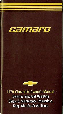 1979 79 Camaro RS Z28 Factory Owners Manual Owner's