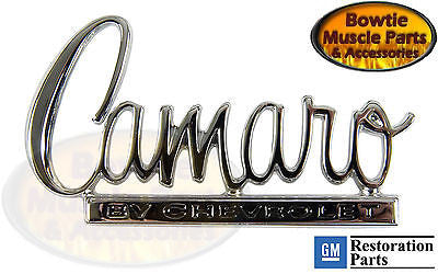 1970 70 CAMARO TRUNK DECK LID EMBLEM GM RESTORATION LICENSED FOR GM PART 8704053