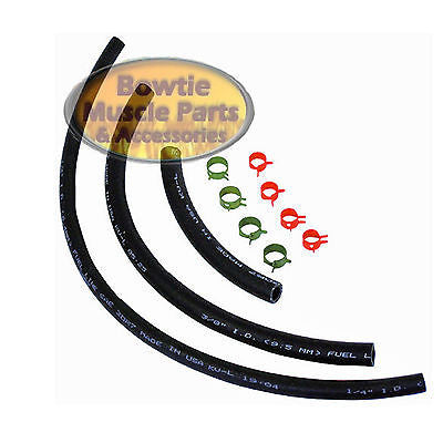69-74 CHEVELLE CAMARO NOVA 3/8 GAS FUEL HOSE with 1/4 RETURN HOSE