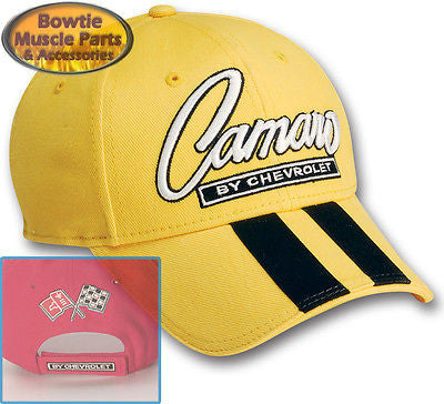 67 68 69 70 71 72 73 74 76 87 92 02 CAMARO SS Z28 RALLY STRIPE CAP HAT - YELLOW