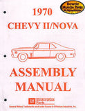 1970 70 Nova Factory Assembly Manual - 476 Pages!