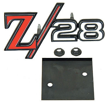 1969 69 CAMARO Z/28 GRILLE EMBLEM WITH RETAINER Z28 - STD RS GRILLE GM LICENSED