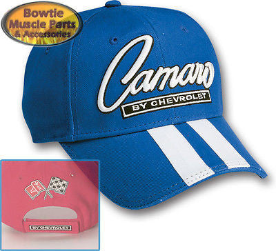 67 68 69 70 71 72 73 74 76 87 92 02 10 CAMARO SS Z28 RALLY STRIPE CAP HAT - BLUE