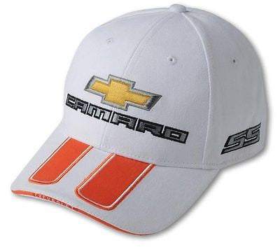 2011 2012 2013 97 69 CAMARO INDY PACE CAR SS WITH RALLY STRIPES CAP HAT - WHITE
