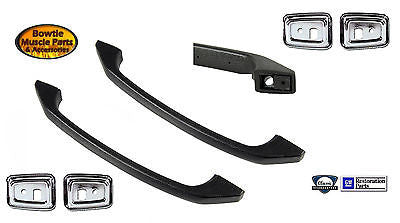 68 69 CAMARO FIREBIRD DELUXE INTERIOR DOOR GRAB HANDLE AND CHROME BEZELS