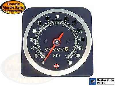 1969 69 Camaro Speedometer 140 MPH GM Restoration Part - COPO ZL1 Z28 SS 396 427