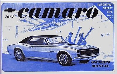 67 CAMARO FACTORY OWNERS MANUAL WITH STORAGE POUCH