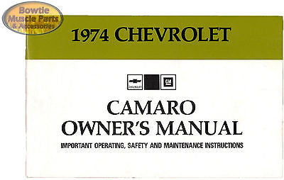 1974 74 Camaro RS Z28 Factory Owners Operators Manual Owner's