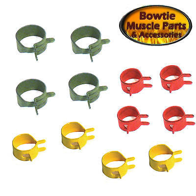 64-74 CHEVELLE CORVETTE CAMARO IMPALA GTO NOVA FIREBIRD GAS FUEL HOSE CLAMP SET
