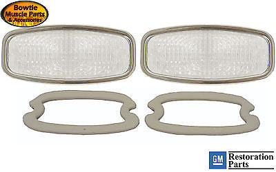 68 CAMARO PARKING LAMP LIGHT LENS KIT PAIR WITH SEALS GM RESTORATION PART