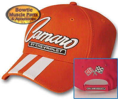 67 68 69 70 71 72 73 74 76 87 92 02 CAMARO SS Z28 RALLY STRIPE CAP HAT - ORANGE