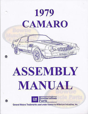 1979 79 Camaro Factory Assembly Manual Z28 RS Berlinetta