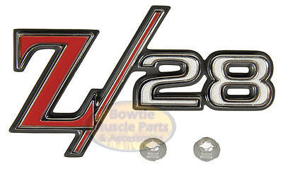 1969 69 CAMARO Z/28 REAR TAIL PANEL EMBLEM Z28 GM RESTORATION LICENSED 8701333
