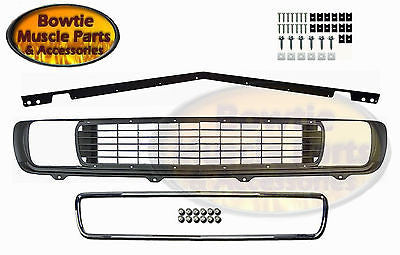 69 CAMARO RALLYSPORT GRILLE WITH STIFFENER CHROME AND HARDWARE RS GRILL 1969 KIT