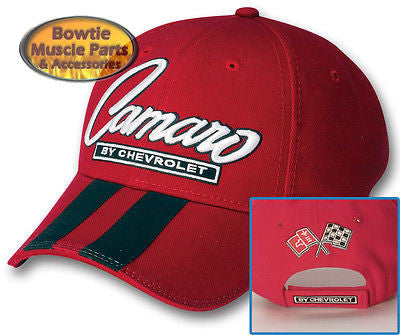 67 68 69 70 71 72 73 87 92 02 10 11 12 CAMARO SS Z28 RALLY STRIPE CAP HAT - RED