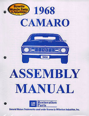 1968 68 Camaro Factory Assembly Manual Z28 SS RS - 450 pages!