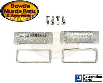 69 1969 CAMARO RS RALLY-SPORT REVERSE BACK-UP LIGHT LENS SET 5961500