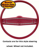 69 70 STEERING WHEEL HORN CONTACTS STANDARD DELUXE CAMARO IMPALA NOVA CHEVELLE