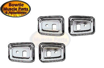 68 69 CAMARO FIREBIRD DELUXE INTERIOR DOOR GRAB HANDLE CHROME BEZELS