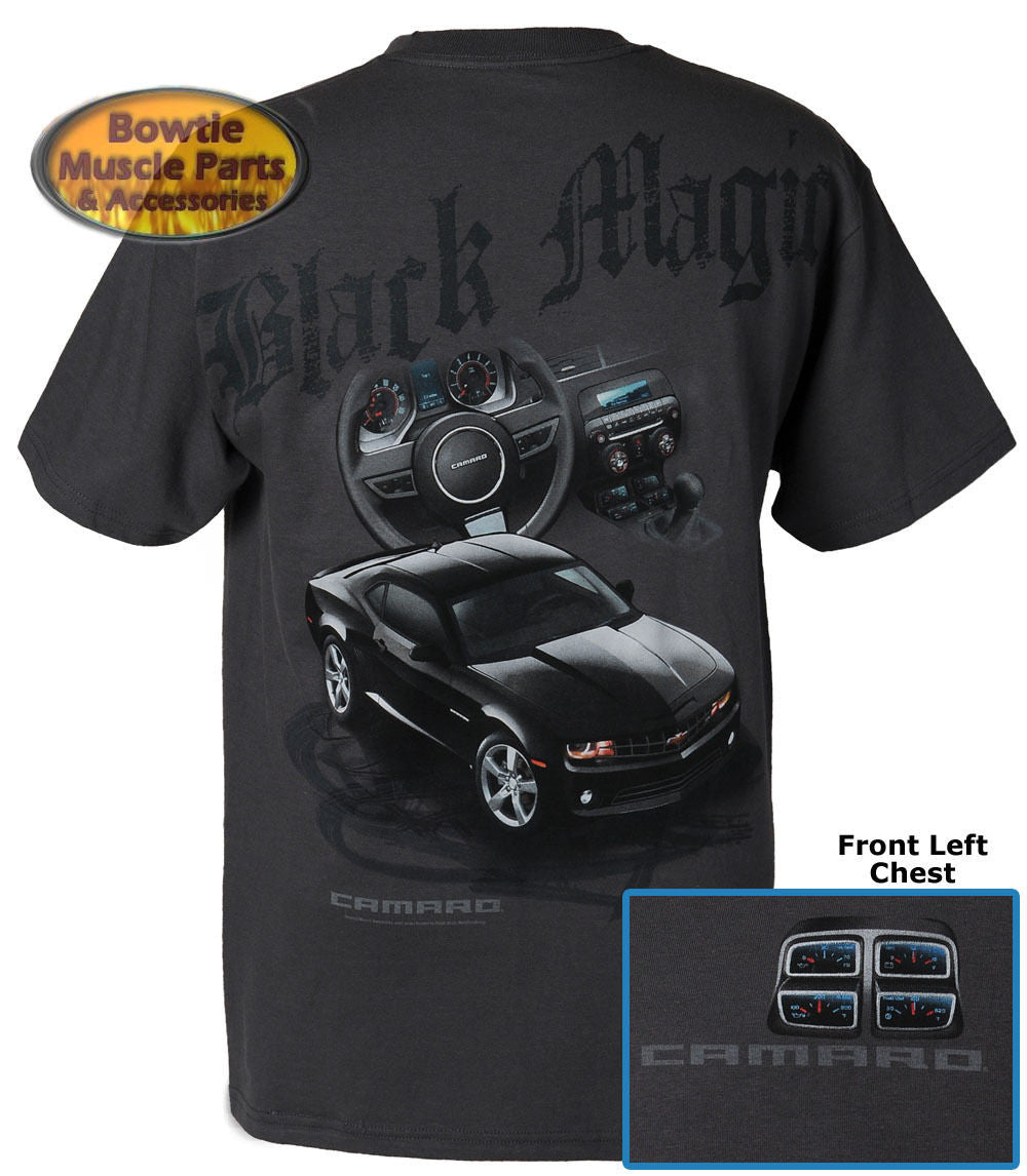 2010 2011 2012 2013 2014 CAMARO BLACK MAGIC TEE T-SHIRT 67 68 69 70 71 84 88 89