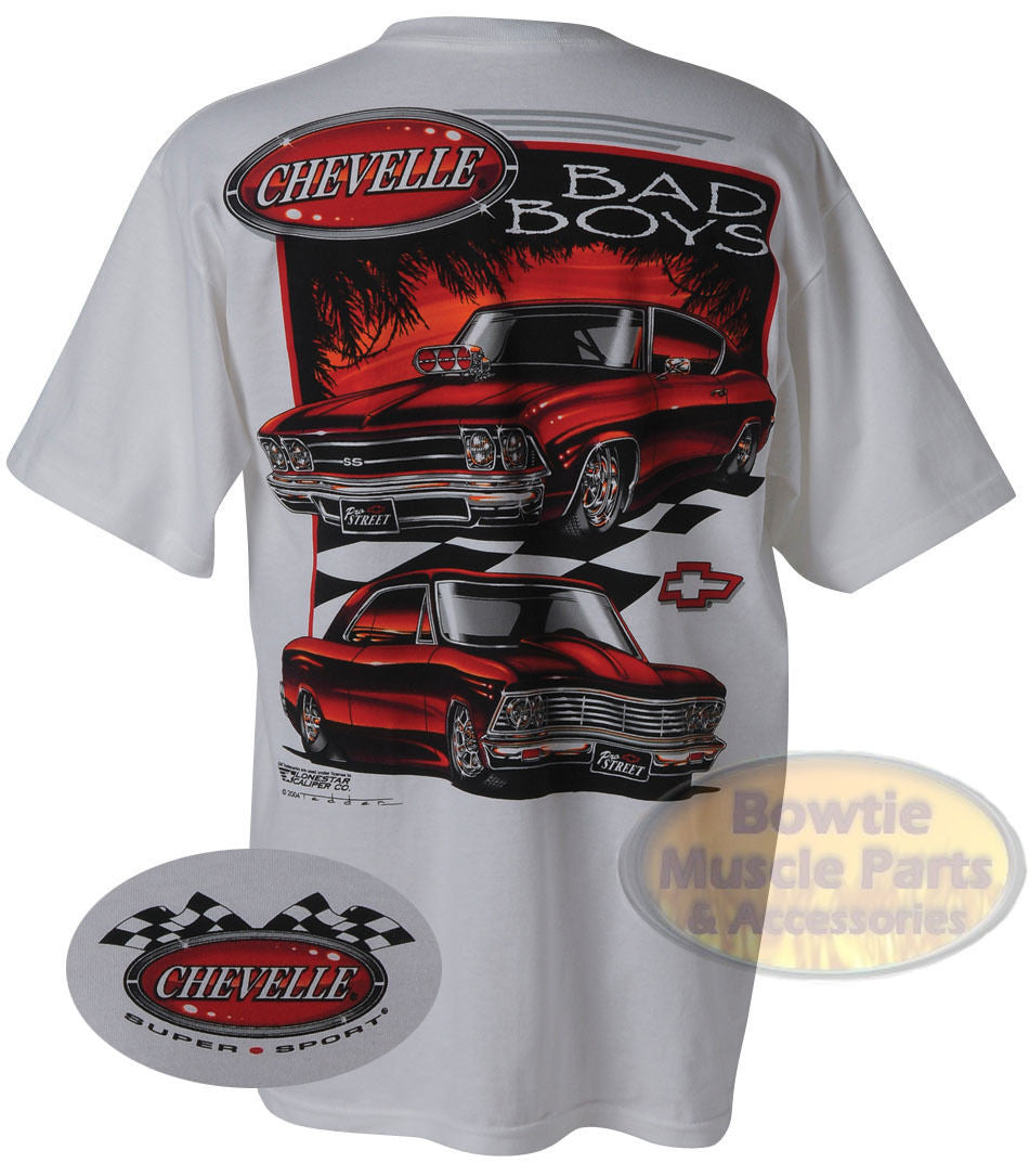 "CHEVELLE ""BAD BOYS"" MUSCLE CAR T-SHIRT"