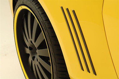 2010 11 CAMARO SIDE VENT INSERTS QUARTER LOUVERS BLACK