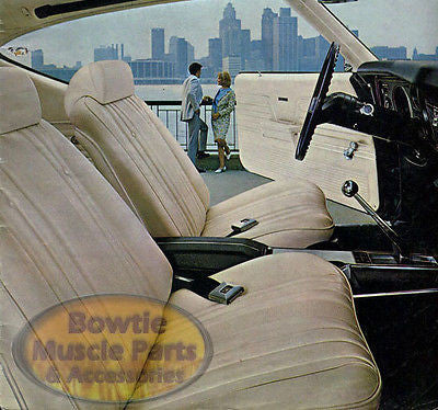 68-72 CHEVELLE MALIBU WITH FACTORY 4 SPEED NO CONSOLE CARPET KIT - GM LICENSED