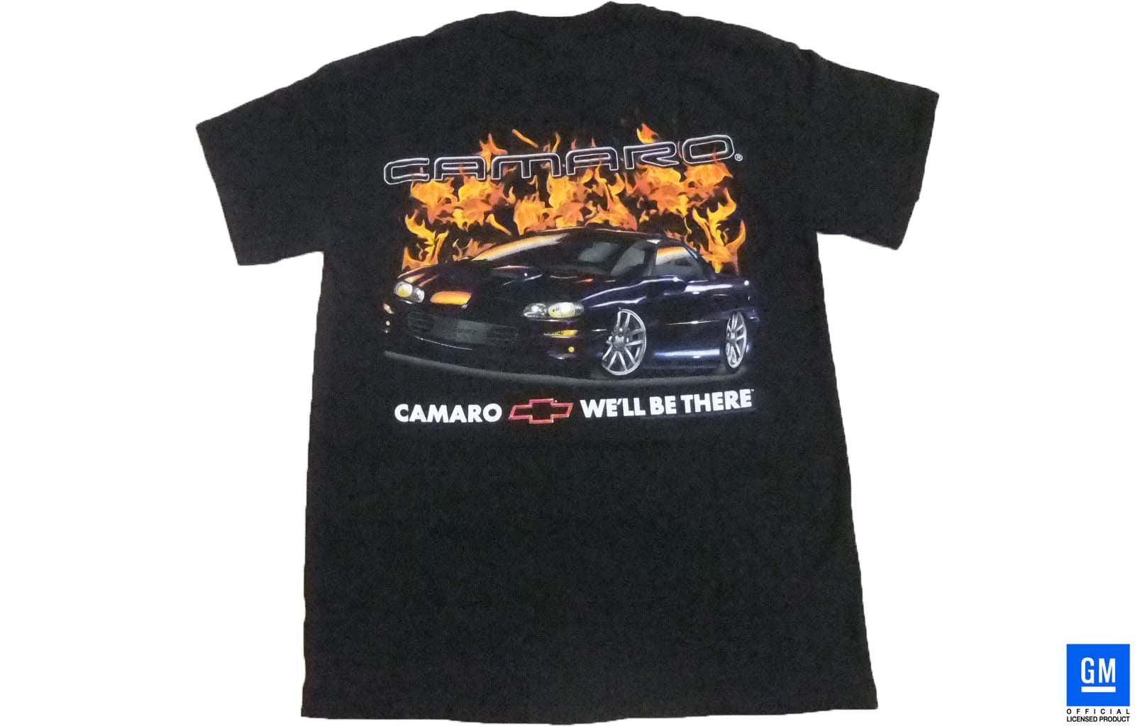 4TH GEN CAMARO SS FLAME T-SHIRT BLACK