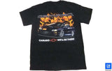 98 99 2000 2001 2002 00 01 02 4TH GEN CAMARO SS FLAME T-SHIRT BLACK GM LICENSED