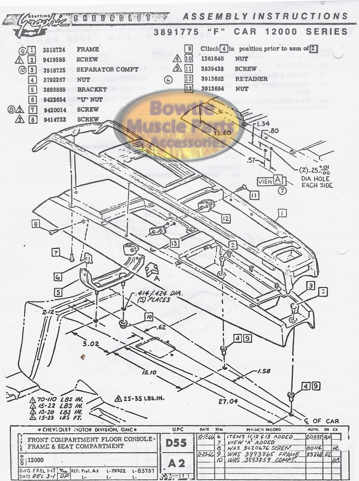 1969 69 camaro factory assembly manual z28 ss rs