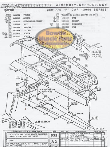 1972 CHEVELLE EL CAMINO MONTE CARLO Assembly Manual Tools ...