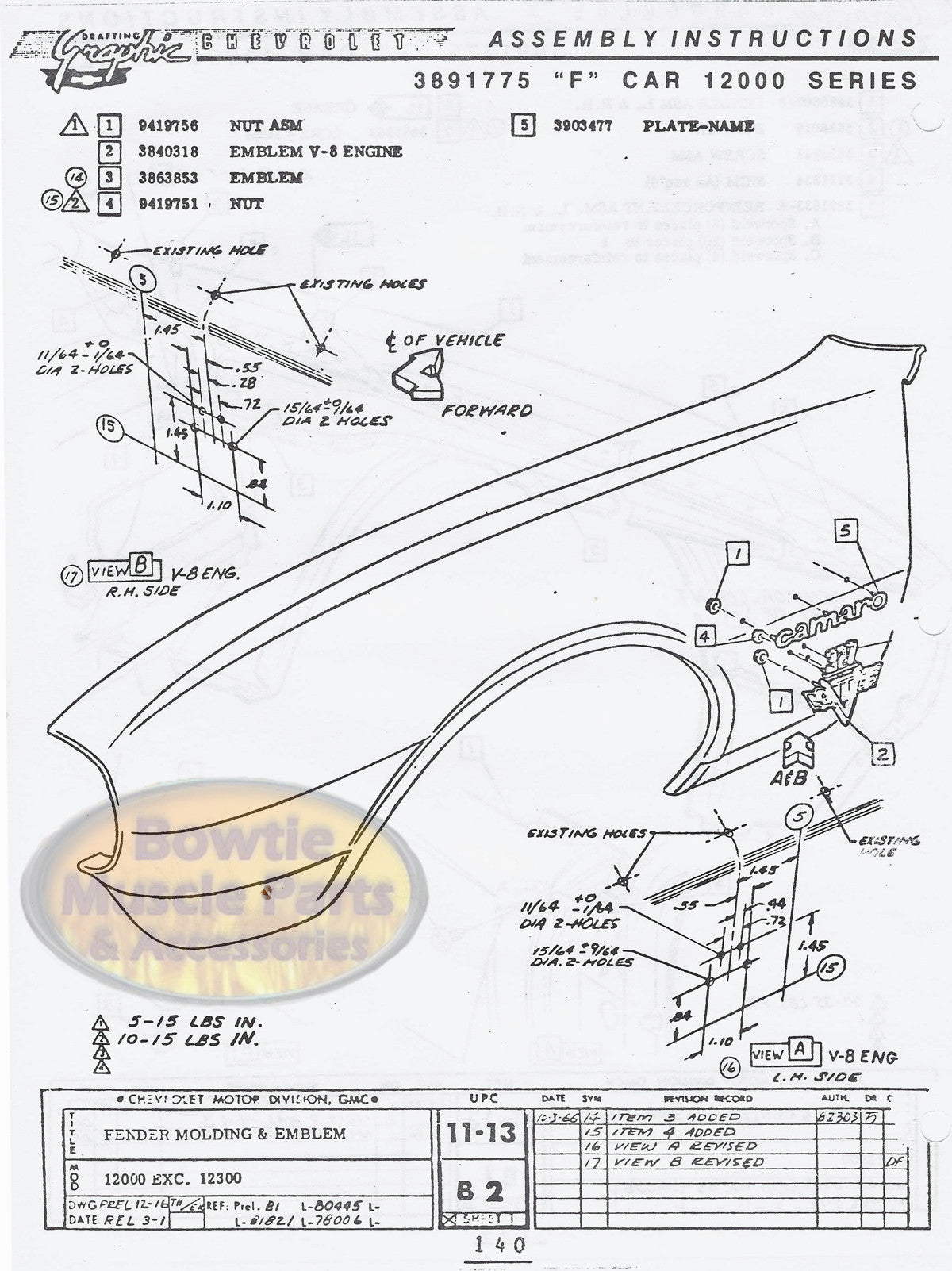 1967 67 camaro factory assembly manual z28 ss rs 418 pages rh bowtiemuscleparts com 66 Camaro 1967 camaro factory assembly manual