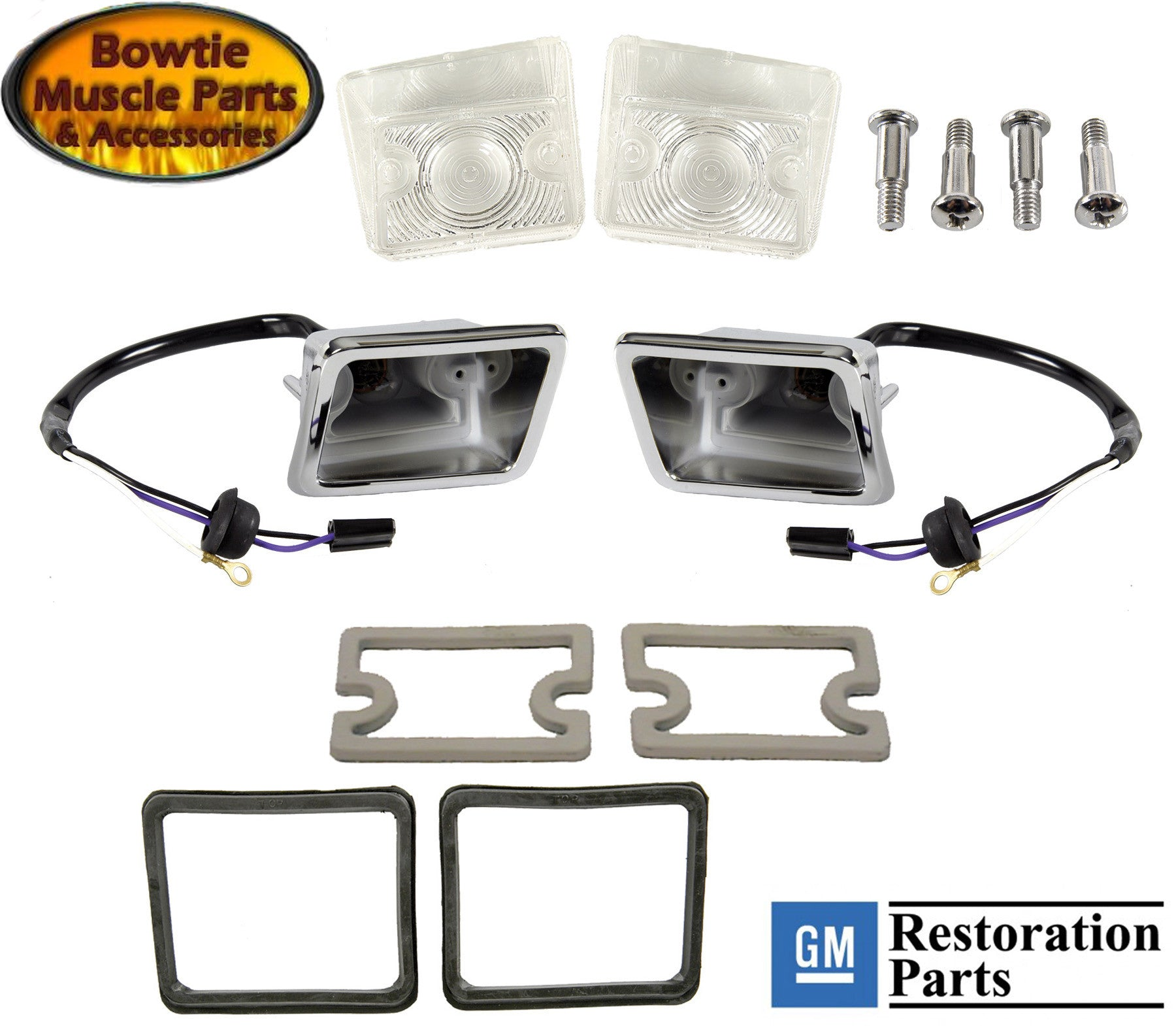 67 CAMARO rs RALLYSPORT PARKING LAMP HOUSING LENS GASKET SEAL KIT