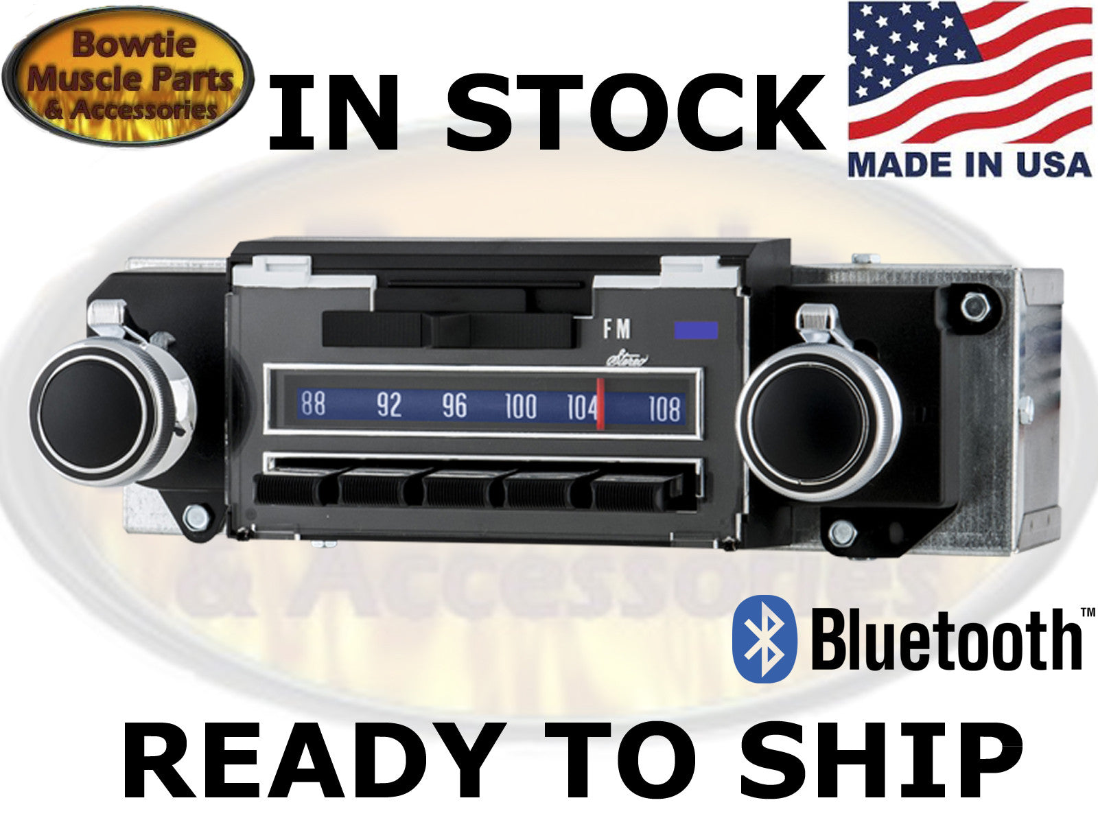 69 70 IMPALA CAPRICE BEL AIR FACTORY CORRECT AM FM BLUETOOTH RADIO BLUE LIGHT