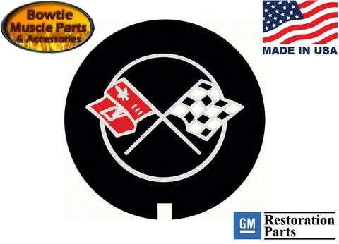 69 70 71 72 CAMARO Z28 CORVETTE NOVA LT1 VALVE COVER DECAL CROSS FLAGS  CROSSED
