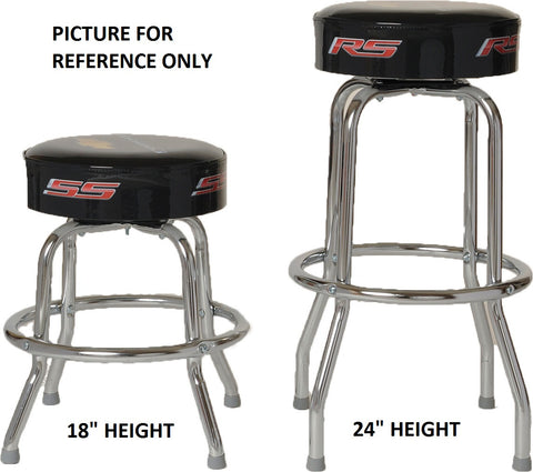 "CAMARO SS BAR STOOL FOR COUNTER OR SHOP - 18"" 24"" OR 30"" HEIGHT"