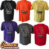 CAMARO GENERATIONS CLUB T-SHIRT