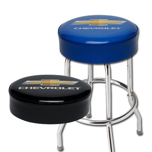 "CHEVROLET ""GOLD BOWTIE"" LOGO BAR STOOL FOR COUNTER OR SHOP - 18"" 24"" OR 30"" HEIGHT"
