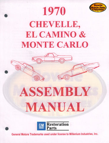 1970 70 Chevelle El Camino Monte Carlo Factory Assembly Manual