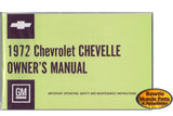 1972 72 CHEVELLE  EL CAMINO WAGON CONVERTIBLE FACTORY OWNERS MANUAL WITH POUCH