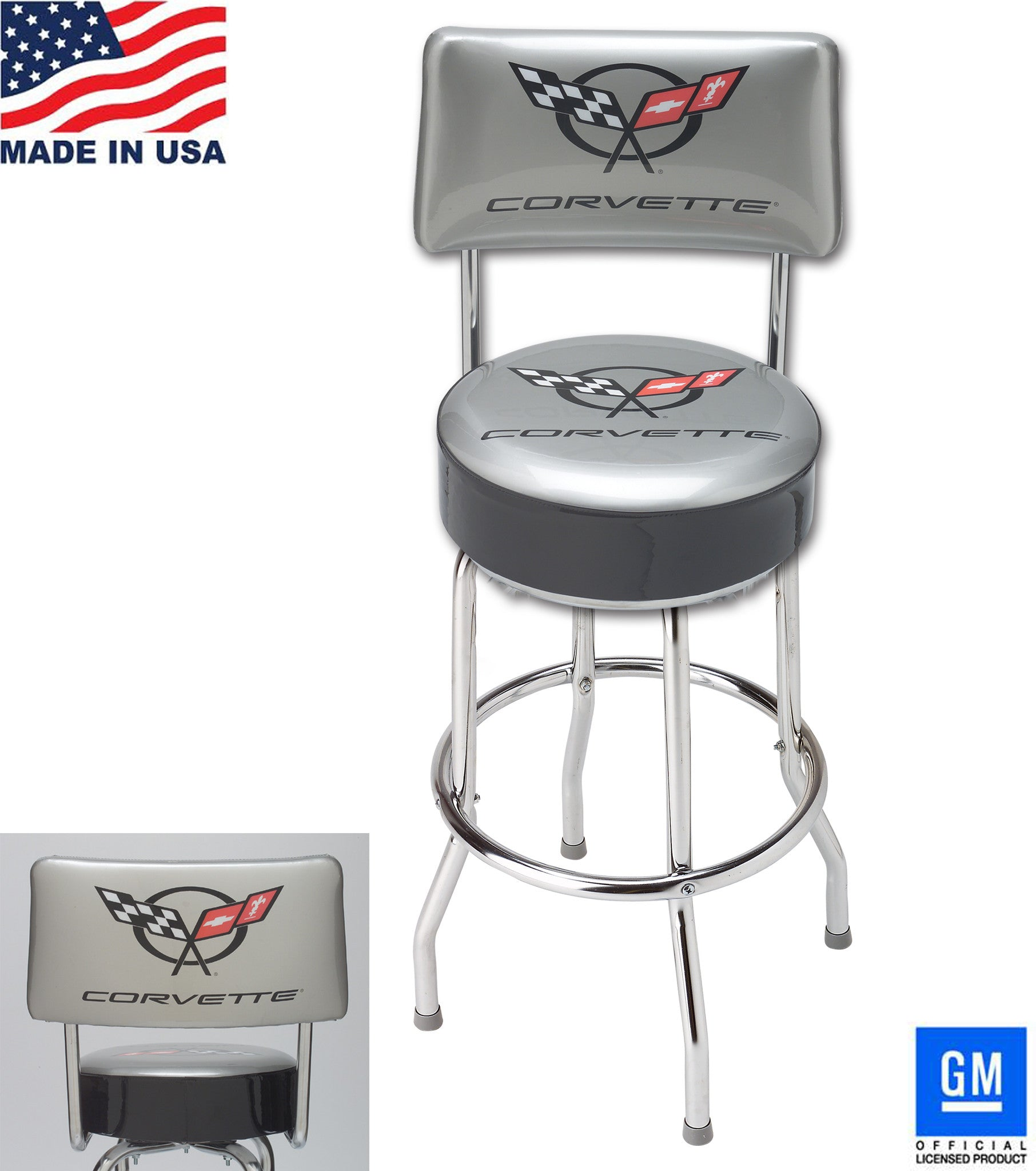 Corvette Barstool with Backrest