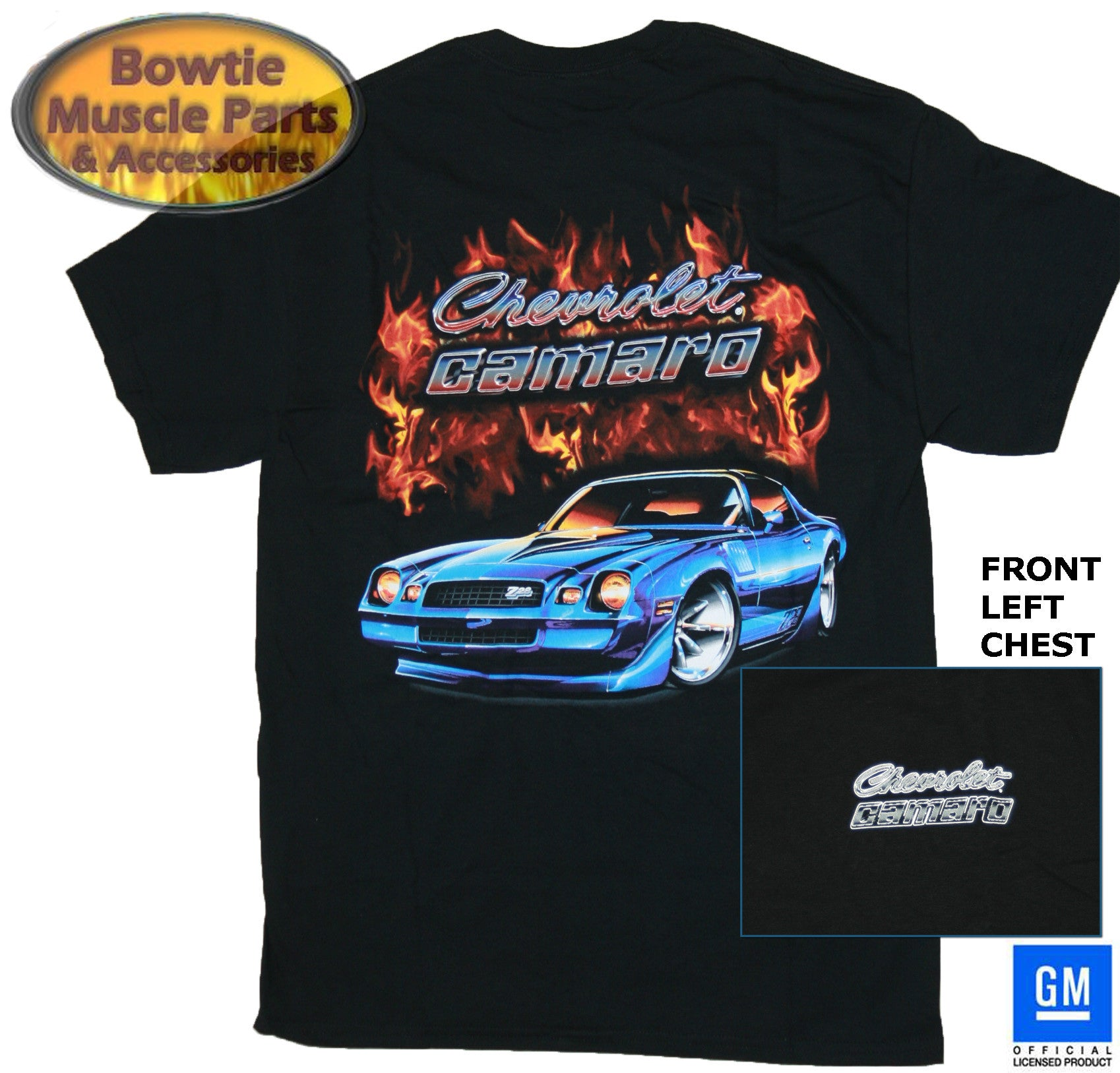 78 79 77 80 81 2ND GEN CAMARO Z28 FLAME T-SHIRT