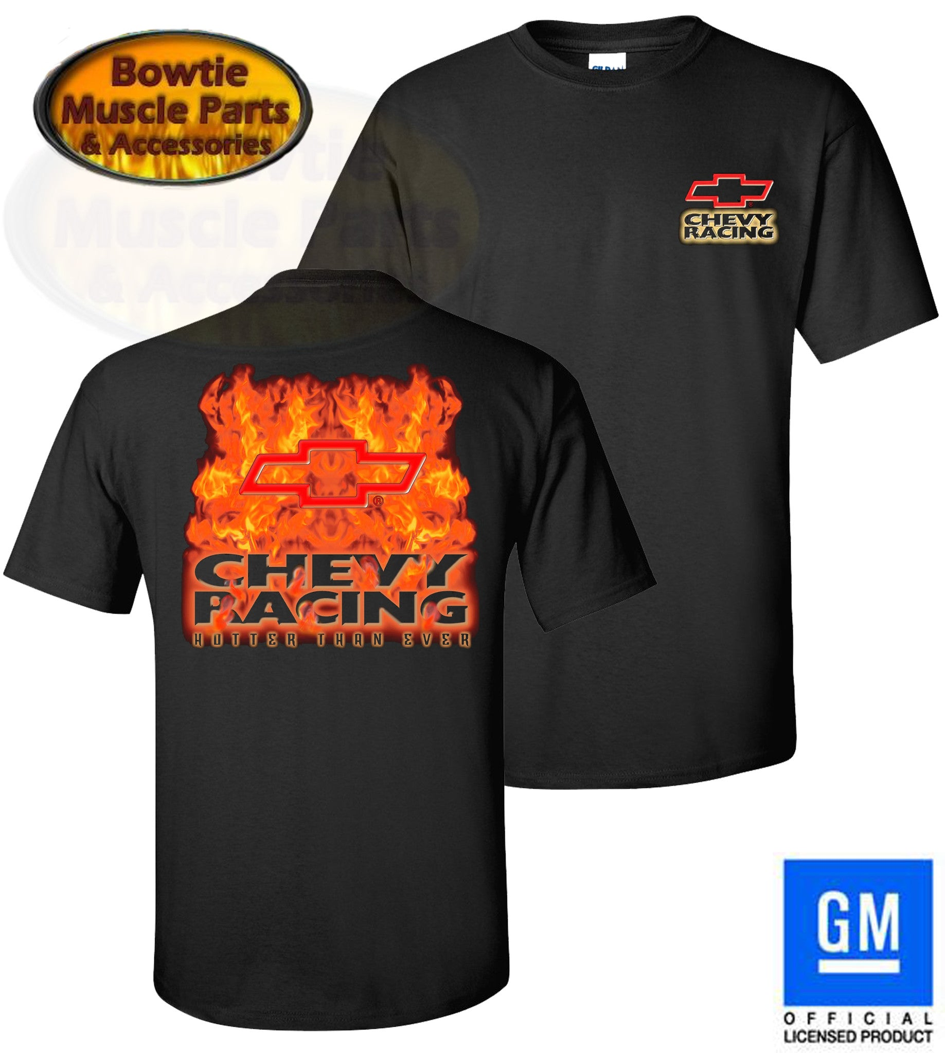 CHEVY RACING HOTTER THAN EVER MONTE CARLO CAMARO NOVA CHEVELLE NASCAR T-SHIRT