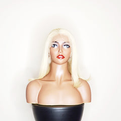 "12"" Custom 613 Platinum Blonde Bob Full Lace Wig"