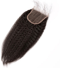 Kinky Straight HD Virgin Hair Lace Closures (4x4)