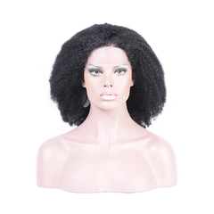 Virgin Brazilian Afro Kinky Hair Curly Lace Frontal Wig