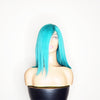 "Custom Color 14"" Lace Frontal Bob Wig  - Lake Blue"
