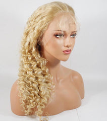 """Barbie"" Blonde Virgin Hair Lace Frontal Wig"